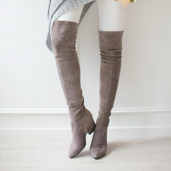 c0cc1bdc78a Goodnight Macaroon Taupe Gray Over The Knee Boots